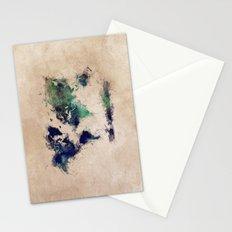 World Map splash raf Stationery Cards