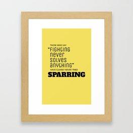 Sparring Framed Art Print