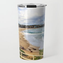 Bondi beach, New South Wales, Australia, on a quiet day Travel Mug