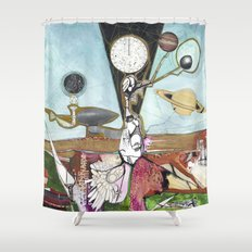 Exploration: Space Age Shower Curtain