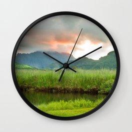 Koneohe Sunset Wall Clock