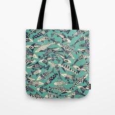 shark party jade Tote Bag