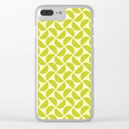 HALF-CIRCLES, CHARTREUSE Clear iPhone Case