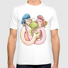 Chunky love MEDIUM Mens Fitted Tee White