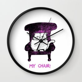My Chair!  (Pink) Wall Clock
