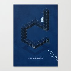 D is for Die Hard Canvas Print