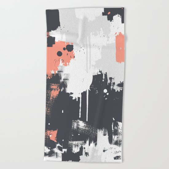 Abstract Paint Pattern 01 Beach Towel