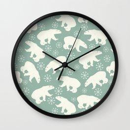 Merry Christmas - Polar bear - Animal pattern Wall Clock