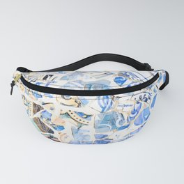 Mosaic of Barcelona XII Fanny Pack