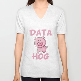 Data Hog Unisex V-Neck