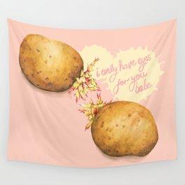 Food Pun - Potato Romance Wall Tapestry