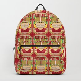 American Football Red and Gold - Hail-Mary Blitzsacker - Hazel version Backpack