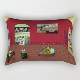 Museum Cats Rectangular Pillow