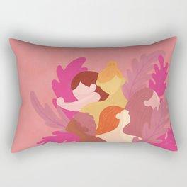 Future is Women Watercolor Coral Pop Art Rectangular Pillow