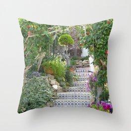 A garden in Spain Throw Pillow