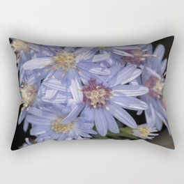 Tiny Blue Aster Flowers portrait Rectangular Pillow