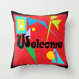 American Sign Language ASL WELCOME Throw Pillow