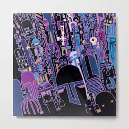 SILICON VALLEY HIGH Metal Print