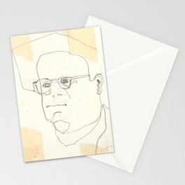 Line Glasses Stationery Cards
