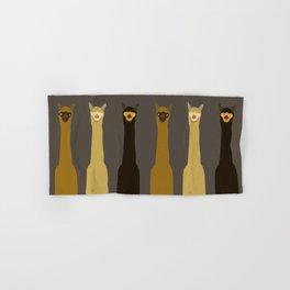Triple LLAMAS ALPACAS CAMELS Hand & Bath Towel