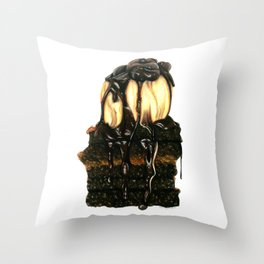 Brownie Sundae Throw Pillow