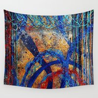 dna Wall Tapestries featuring Universe DNA  by Atziri