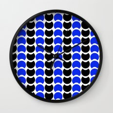 HobNob BlueBlack Print, Canvas and Laptop/iPad Skin Wall Clock