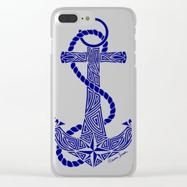Tribal Anchor Clear iPhone Case