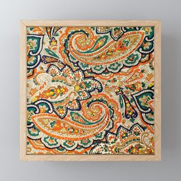 Vintage Luxury Paisley Pattern Framed Mini Art Print