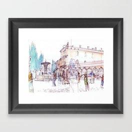 Saturday Market Framed Art Print