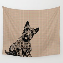 Very Cute Brown Dog Puppy Pet Wall Tapestry
