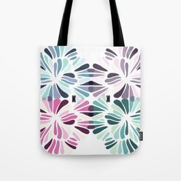 Colourful Floral Zenspire Swirl Shell Design Tote Bag
