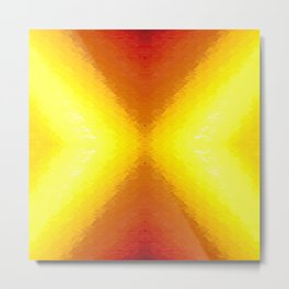 Sun Texture Pattern Metal Print