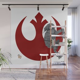 Droid Eek! (red) - BB8 and AT-AT Standoff Wall Mural
