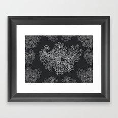 Phoenix Motif Framed Art Print