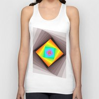 quilt Tank Tops featuring Digital Quilt by Take Five