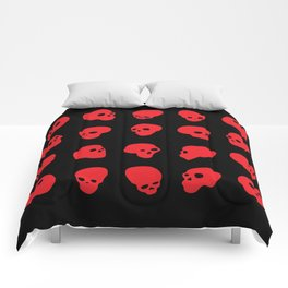 redhead - red on black Comforters