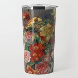 "Pierre-Auguste Renoir ""Vase de fleurs"" Travel Mug"