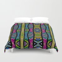 xoxo Duvet Covers featuring XOXO by Klara Acel