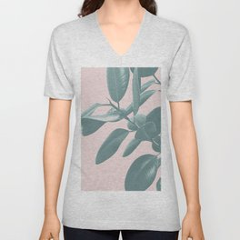 Ficus Elastica #1 #blush #decor #art #society6 Unisex V-Neck