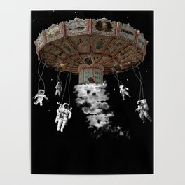 Playing space astronout Poster