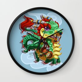 Chibi Cloud Serpent Wall Clock