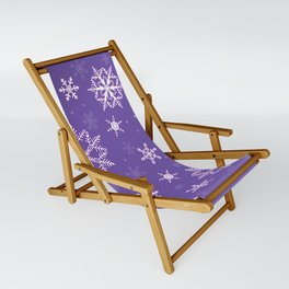snowflakes on the blue Sling Chair