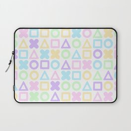 A weird game of pastel tic tac toe Laptop Sleeve