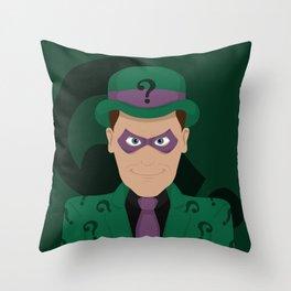 The Riddler Throw Pillow