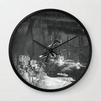 ducks Wall Clocks featuring Ducks by Rose Etiennette