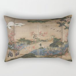 Kanō Hideyori -Maple Viewers Rectangular Pillow