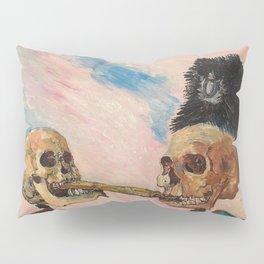 Skeletons Fighting portrait painting by James Ensor Pillow Sham