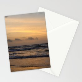 Golden morning at the beach Stationery Cards