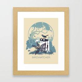 Birdwatcher (blues) Framed Art Print